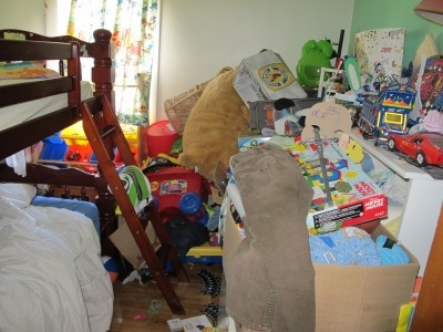 Reduce Clutter. Clutter and stress. Do these images stress you out?